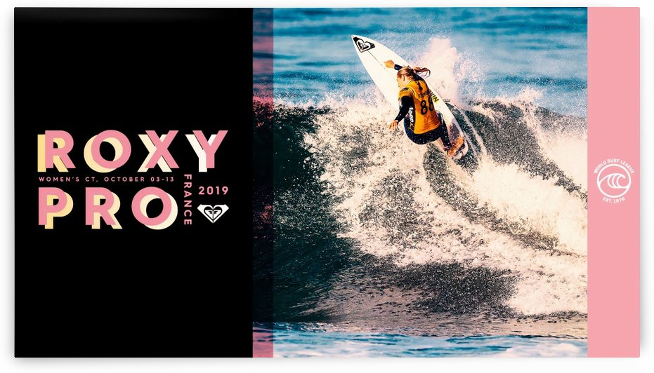 2019 ROXY PRO France Print - Surfing Poster by Surf Posters