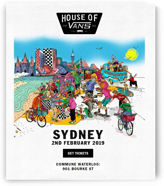 2019 HOUSE OF VANS Sydney Print - Skateboarding Poster by Surf Posters
