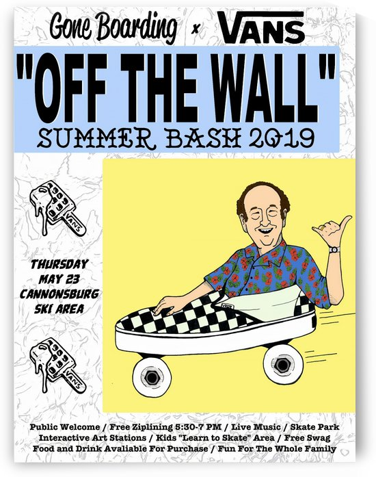2019 VANS Off The Wall Summer Bash Print - Skateboard Poster by Surf Posters