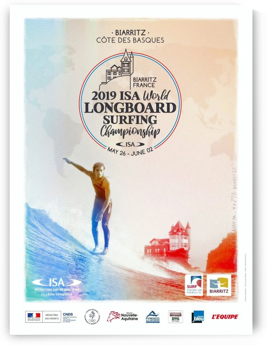 2019 ISA World Longboard Print - Surfing Poster by Surf Posters