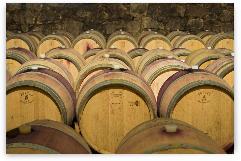 Oak Barrels with Aging Wine Italy by Petr Svarc