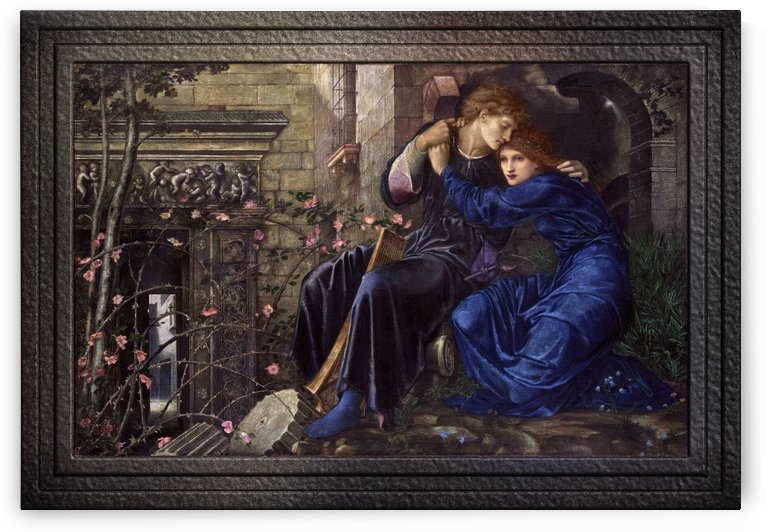 Love Among the Ruins by Edward Burne-Jones Old Masters Reproduction by xzendor7