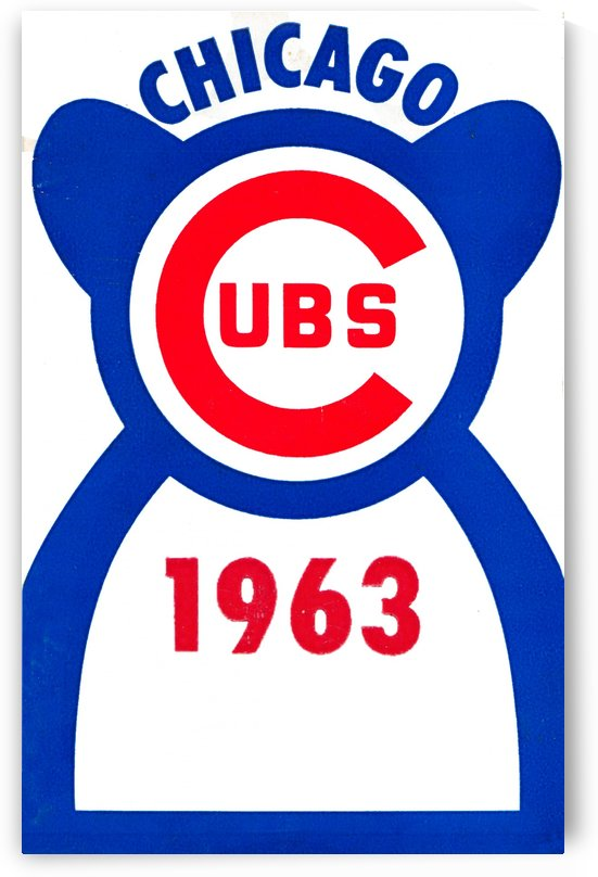 1963 chicago cubs vintage baseball art by Row One Brand