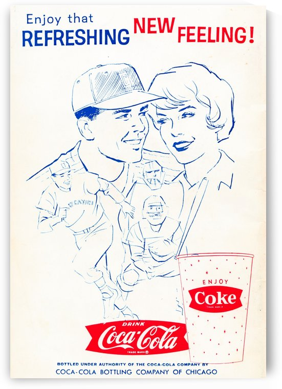 Vintage Coke Ad Enjoy That Refreshing New Feeling by Row One Brand