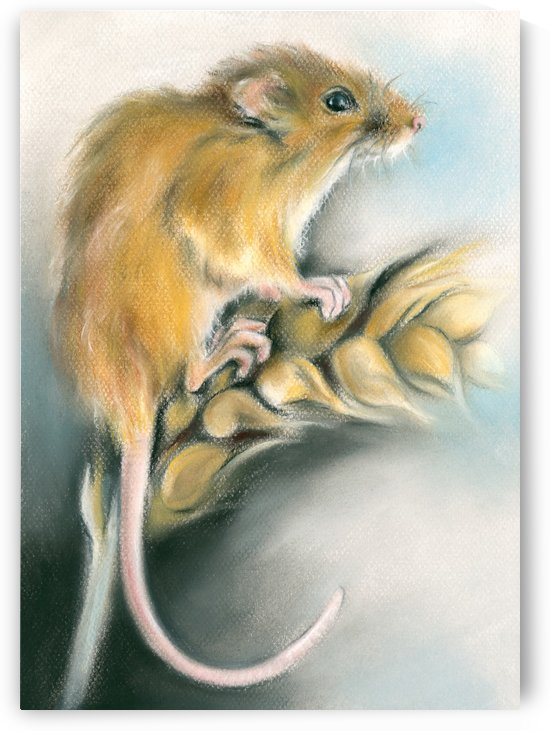 Field Mouse on a Wheat Stalk by MM Anderson