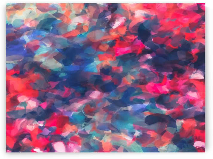 splash painting texture abstract background in red pink blue by TimmyLA