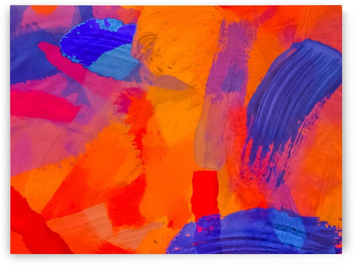 splash painting texture abstract background in orange blue red by TimmyLA