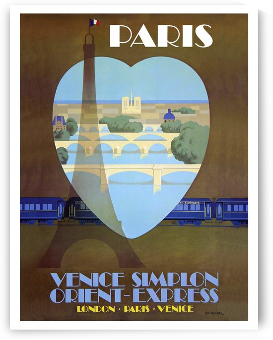 Paris Railway Poster by vintagesupreme