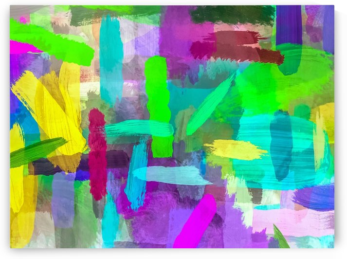 splash brush painting texture abstract background in green blue pink purple by TimmyLA