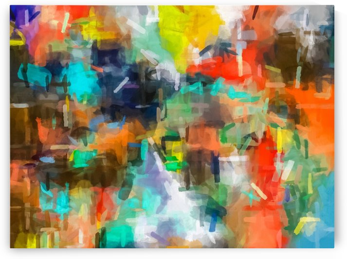 splash brush painting texture abstract background in brown orange blue yellow by TimmyLA