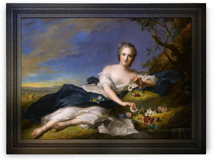 Henriette of France as Flora by Jean-Marc Nattier Old Masters Reproduction by xzendor7