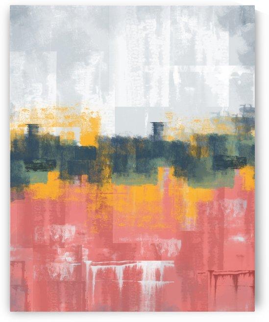 Pink Gray Abstract DAP 20001 by Edit Voros