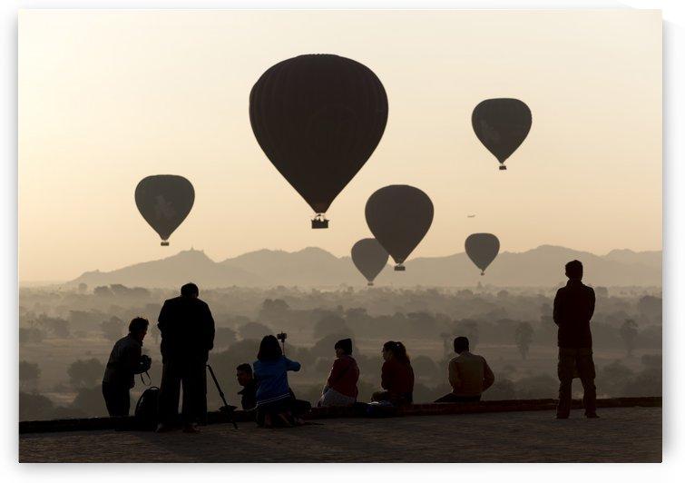 Hot-air Balloons over Bagan Myanmar by Petr Svarc