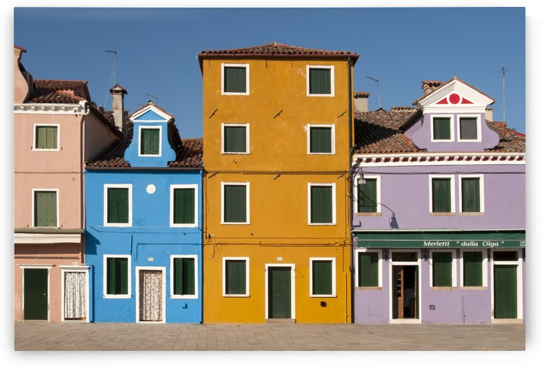 Colourful Houses Burano Italy by Petr Svarc