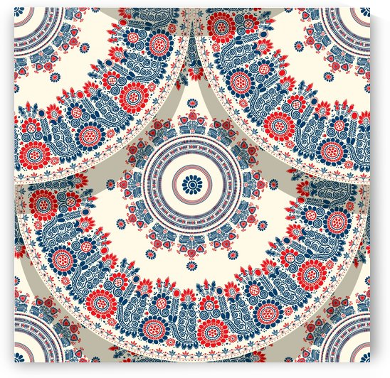Hungarian motif tile by Rceeh