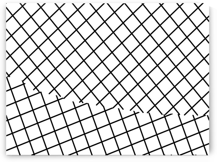 geometric square shape pattern abstract background in black and white by TimmyLA