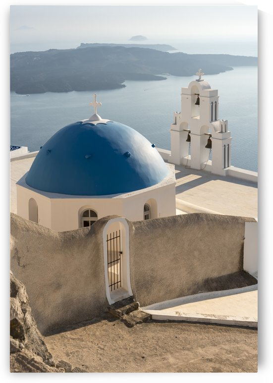 Orthodox Church with Blue Dome Santorini by Petr Svarc