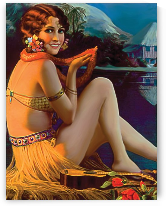 Hula Girl by vintagesupreme