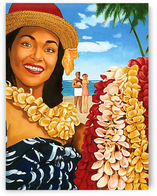 Hawaii Flower Woman by vintagesupreme