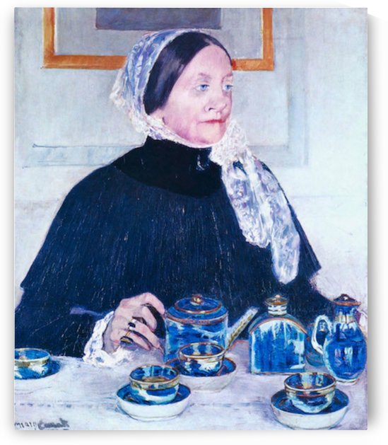 Lady at the Table by Cassatt by Cassatt
