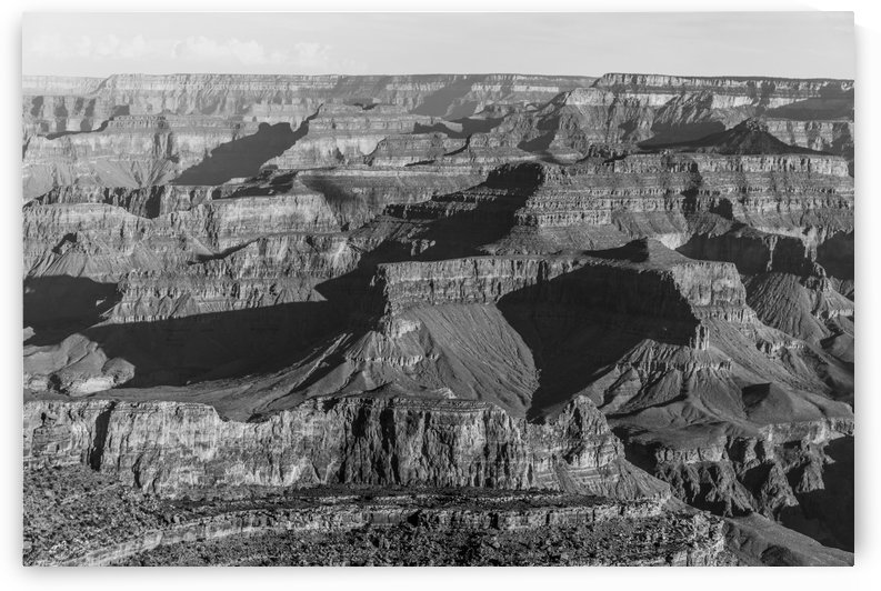 Grand Canyon B&W by Anthony M Farber
