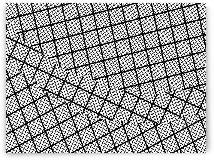 geometric square shape line pattern abstract background in black and white by TimmyLA