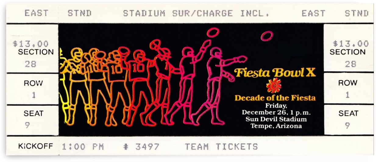 1980 fiesta bowl ticket stub penn state champions by Row One Brand
