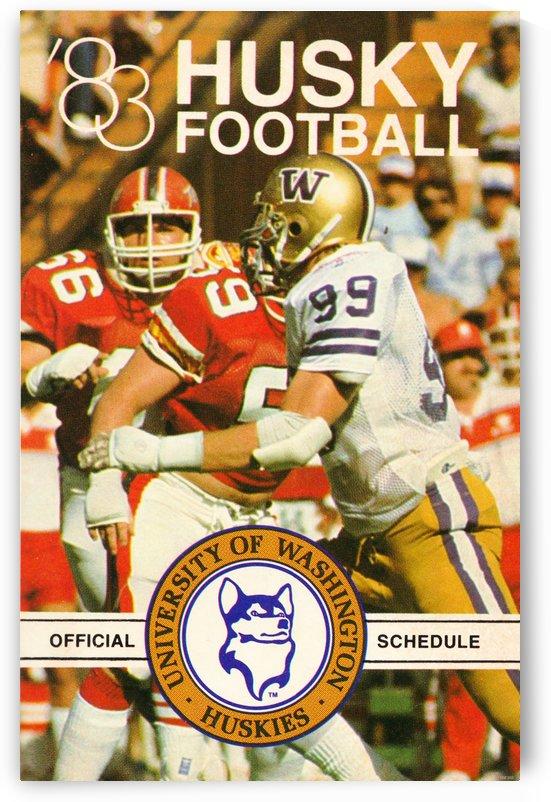1983 Washington Husky Football Poster by Row One Brand