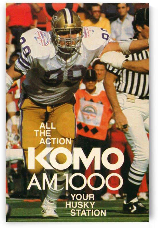 komo am 1000 seattle radio uw husky football poster by Row One Brand