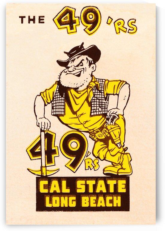1965 cal state long beach 49ers art  by Row One Brand