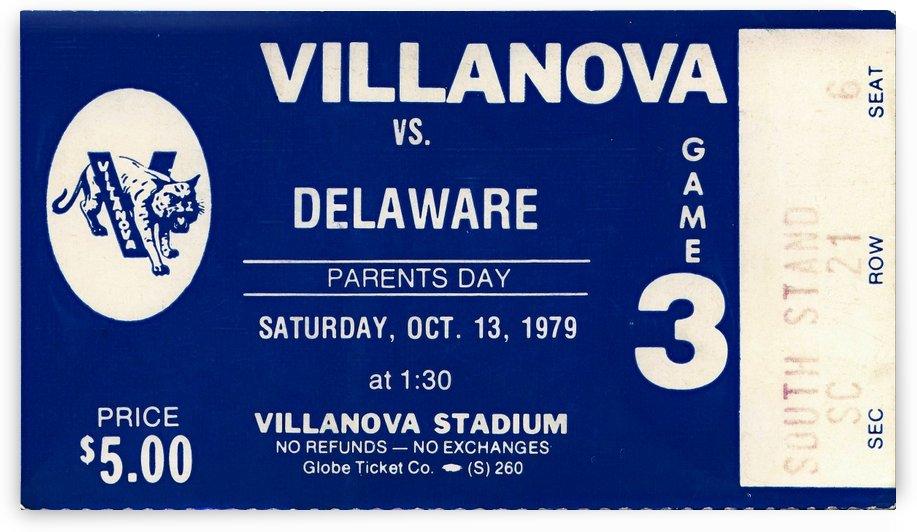 1979 villanova university football ticket stub art (1) by Row One Brand