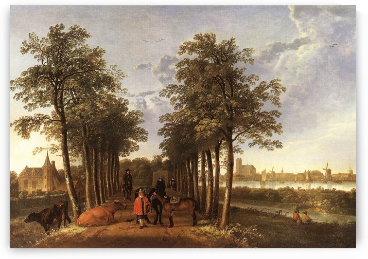 The Avenue at Meerdervoort by Antonie Sminck Pitloo