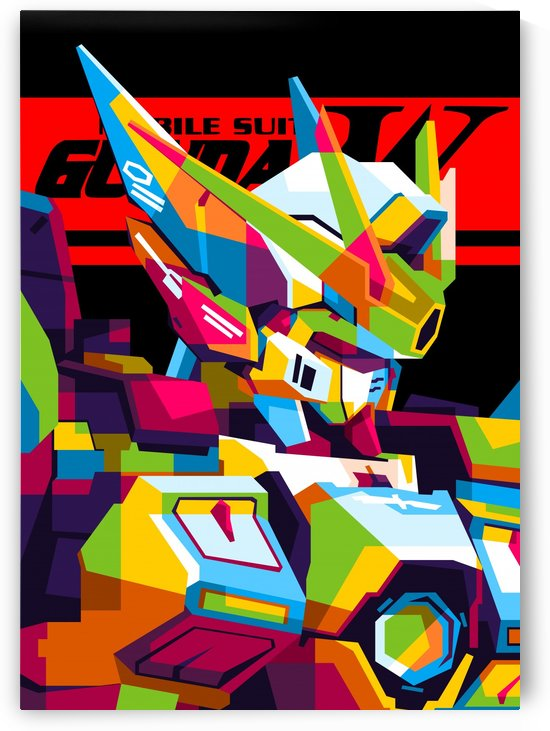 Wings Gundam Zero Pop Art by wpaprint