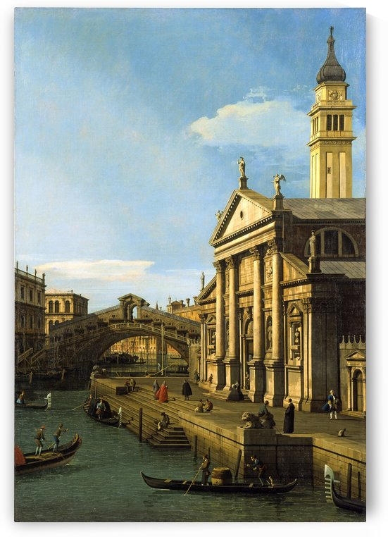 The Rialto Bridge and The Church of S. Giorgio Maggiore by Canaletto