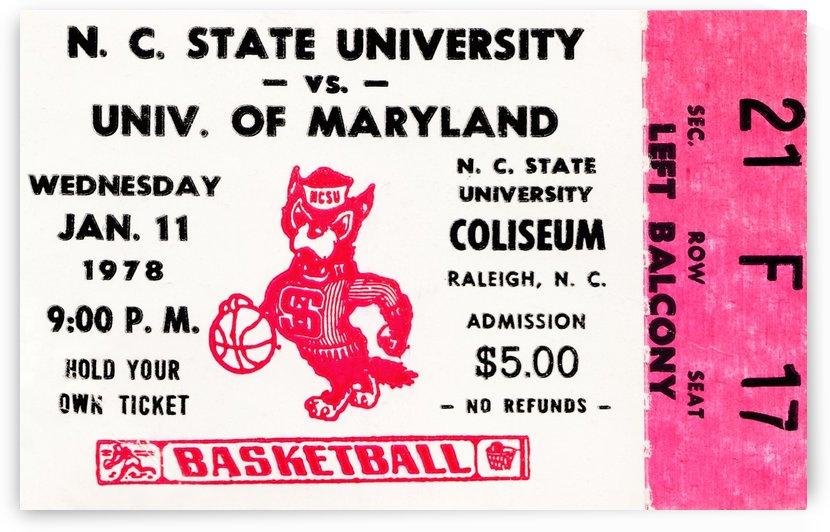 1978 north carolina state university basketball ticket stub canvas art by Row One Brand