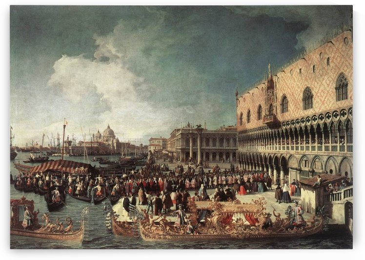 Reception of the Ambassador in the Doge's Palace by Canaletto