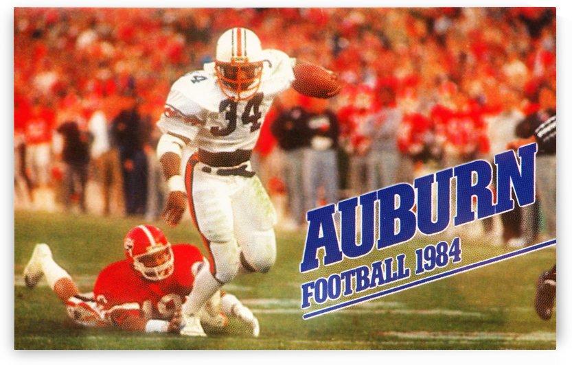 1984 auburn football bo jackson poster by Row One Brand