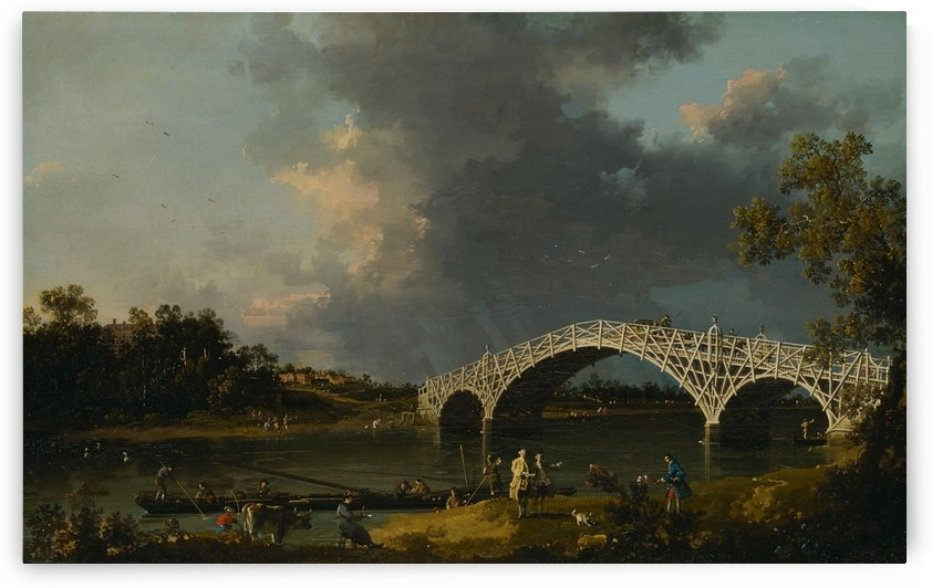 A View Of Walton Bridge by Canaletto