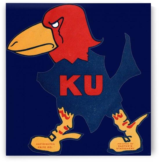 1929 Kansas Jayhawk Art by Row One Brand