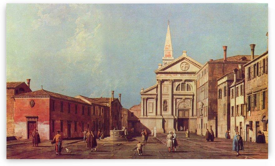 Il Campo e la Chiesa di San Francesco della Vigna by Canaletto