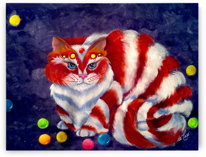 Adorable candy cat called Bombon by deCaso Art