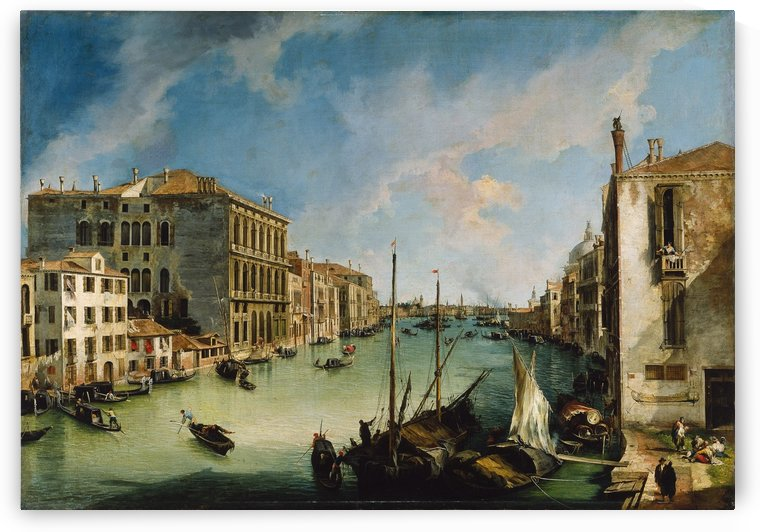 The Grand Canal from San Vio, Venice by Canaletto