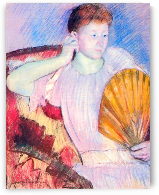 Lady with Fan by Cassatt by Cassatt