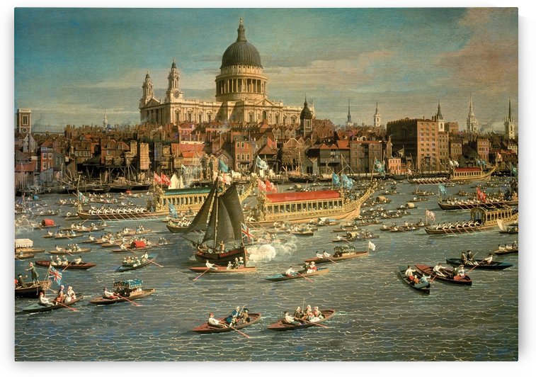 London,The Thames with View of the City of St.Paul by Canaletto