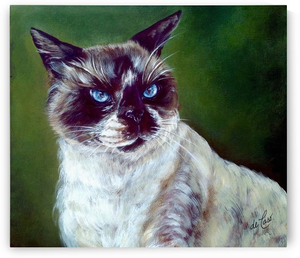 Simon a cat that loves without possessing by deCaso Art
