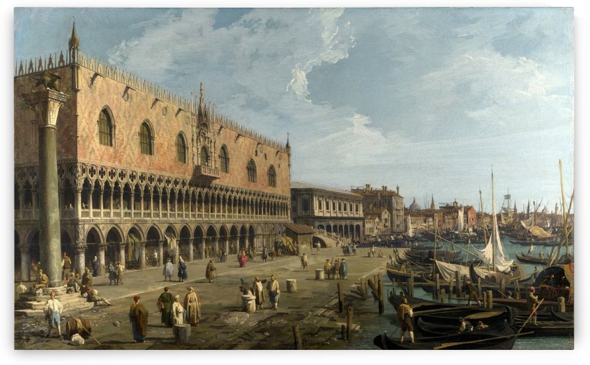 Doge's Palace and the Riva degli Schiavoni by Canaletto