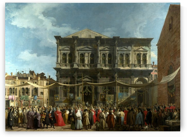 The Feast Day of Saint Roch by Canaletto