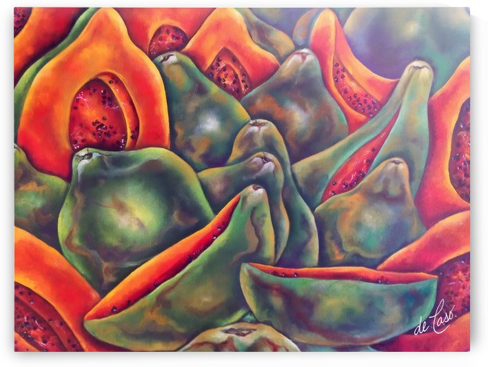 Healthy and delicious Papayas by deCaso Art