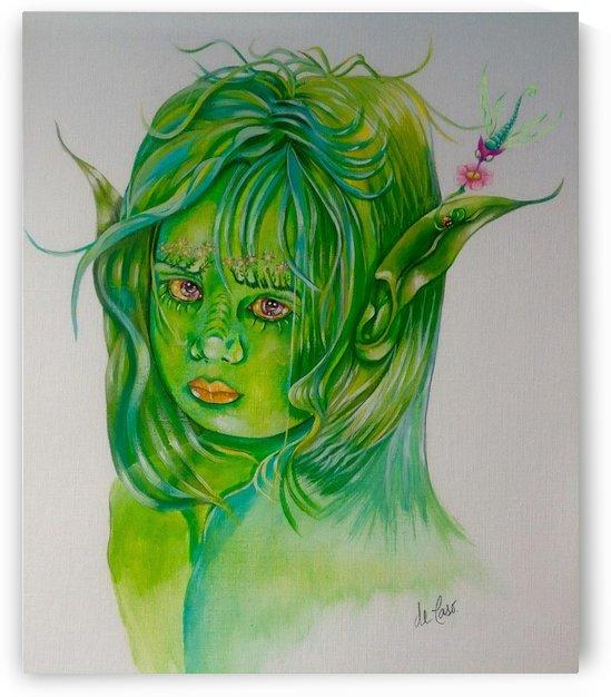 Little green fairy by deCaso Art