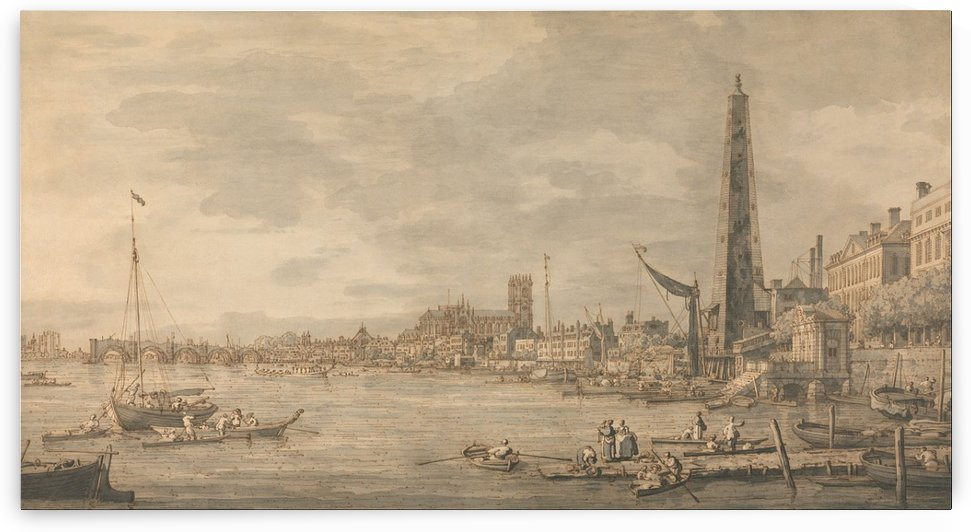 The City of Westminster from Near the York Water Gate by Canaletto
